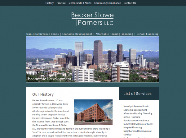 Law Website Design - Becker Stowe, LLC - Created By Web Designs Your Way - Denver, CO