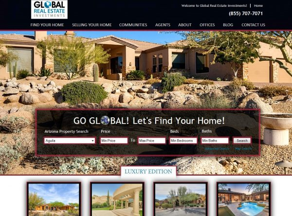 Web Design - go-global-snapshot - Glendale AZ