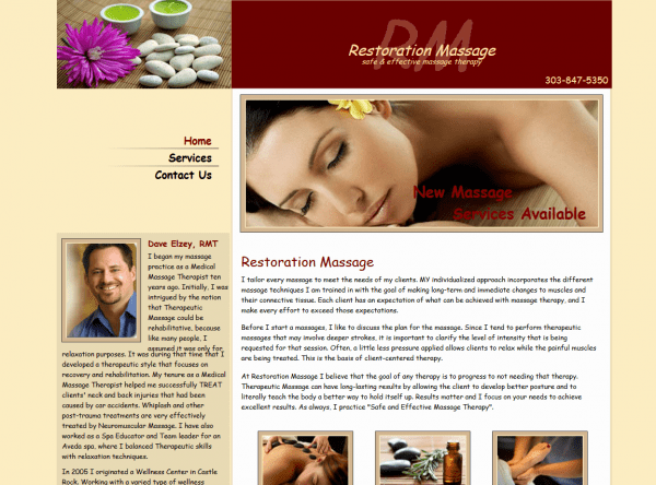 Web Design - Restoration SnapShot - Centennial CO