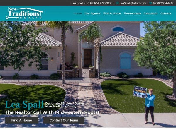 Real Estate Web Design - New Traditions - Chandler, AZ - Created by Web Designs Your Way