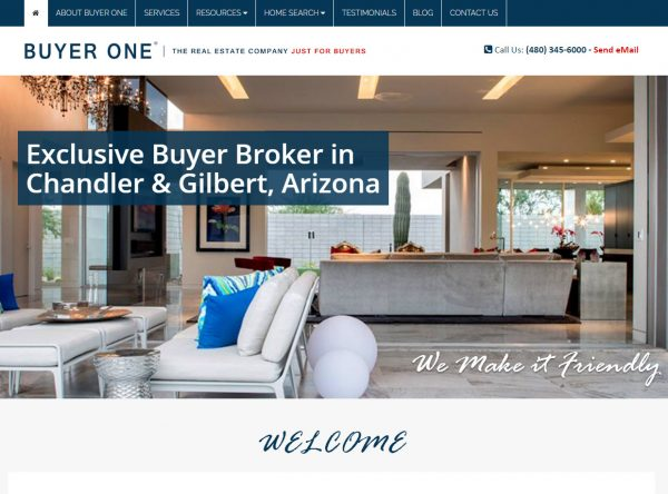 Web Design - New Buyer One Screen Shot - Gilbert AZ