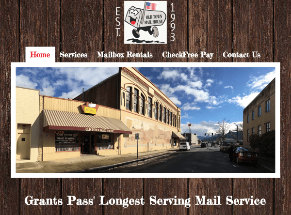 Web Design - Old Town Screen Shot Updated 71218 - Grants Pass OR