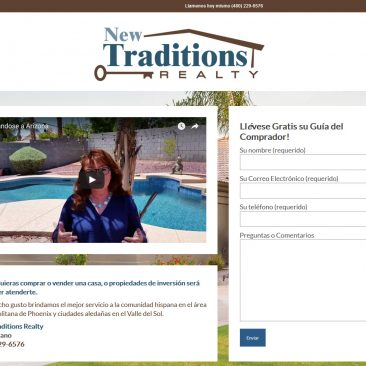New Traditions Realty, Spanish Website – Chandler, Arizona