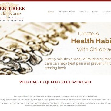 Queen Creek Back Care – Queen Creek, Arizona