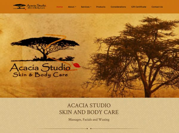 Web Design - Acacia Skin Care - Castle Rock CO