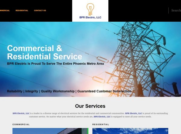 Web Design - BPR Electric - San Tan Valley AZ