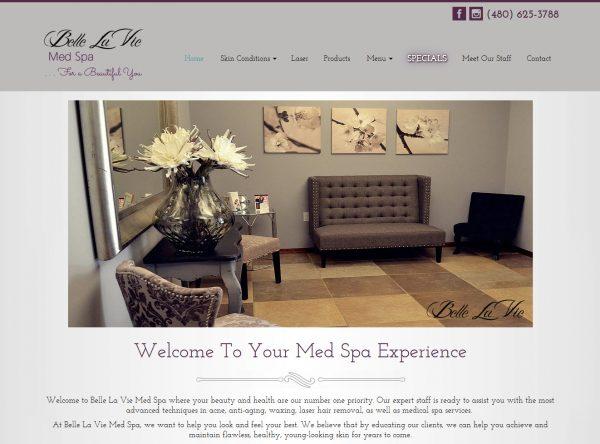 Web Design - Belle La Vie - Tempe AZ