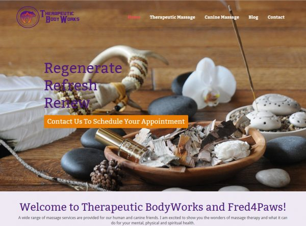 Web Design - Therapeutic Body Works - Castle Rock CO