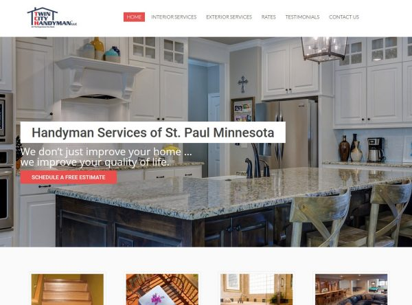 Web Design for Contractors - Twin City - Saint Paul MN