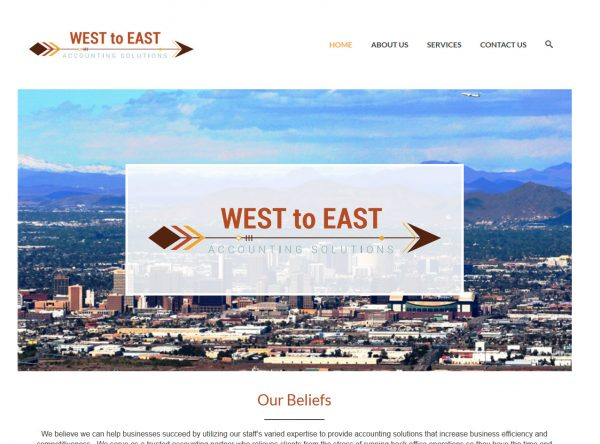 Web Design - West to East Accounting - Scottsdale AZ