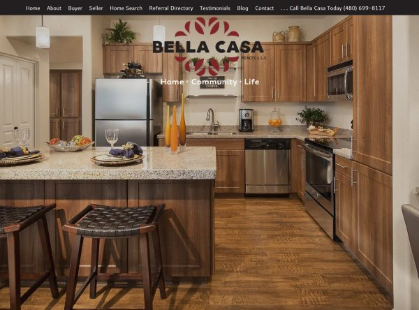 Web Design - Bella Casa - Chandler AZ