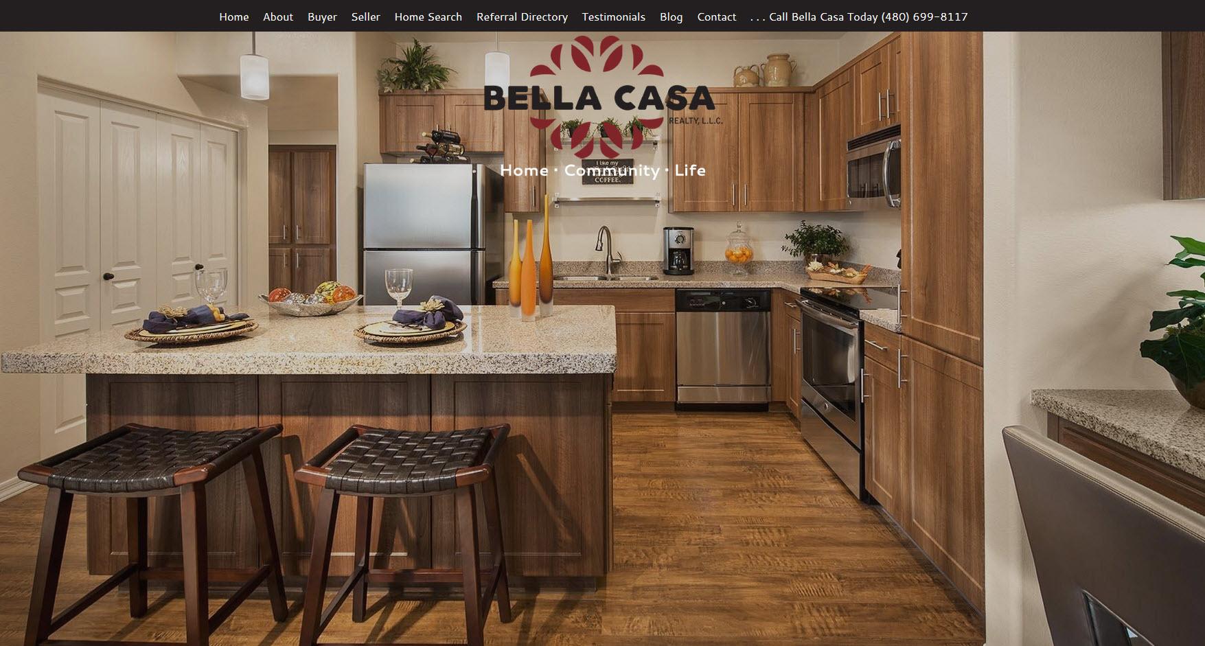 Real Estate Website Design - Bella Casa Realty Chandler, AZ