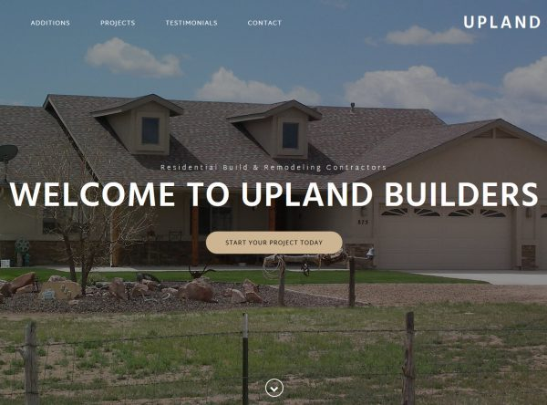 Web Design - Upland Builders - Flagstaff AZ