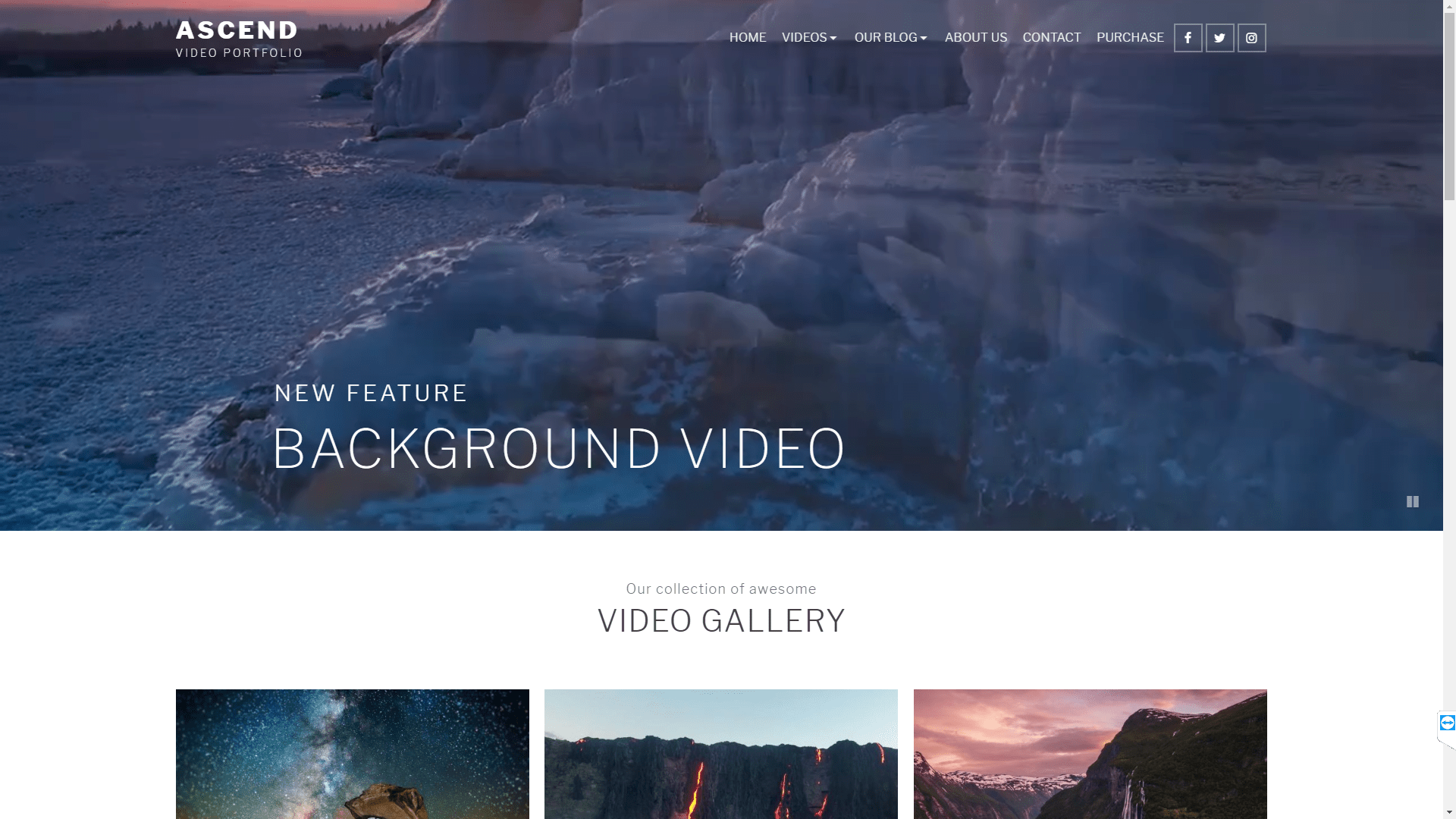 Web Design - Ascend Video Portfolio - Flagstaff AZ