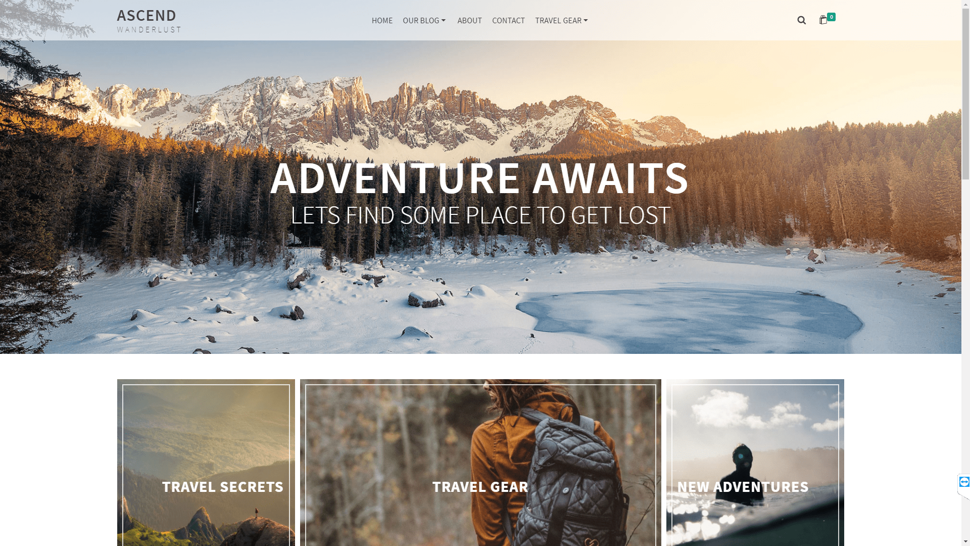 Web Design - Ascend Wanderlust - Boulder CO