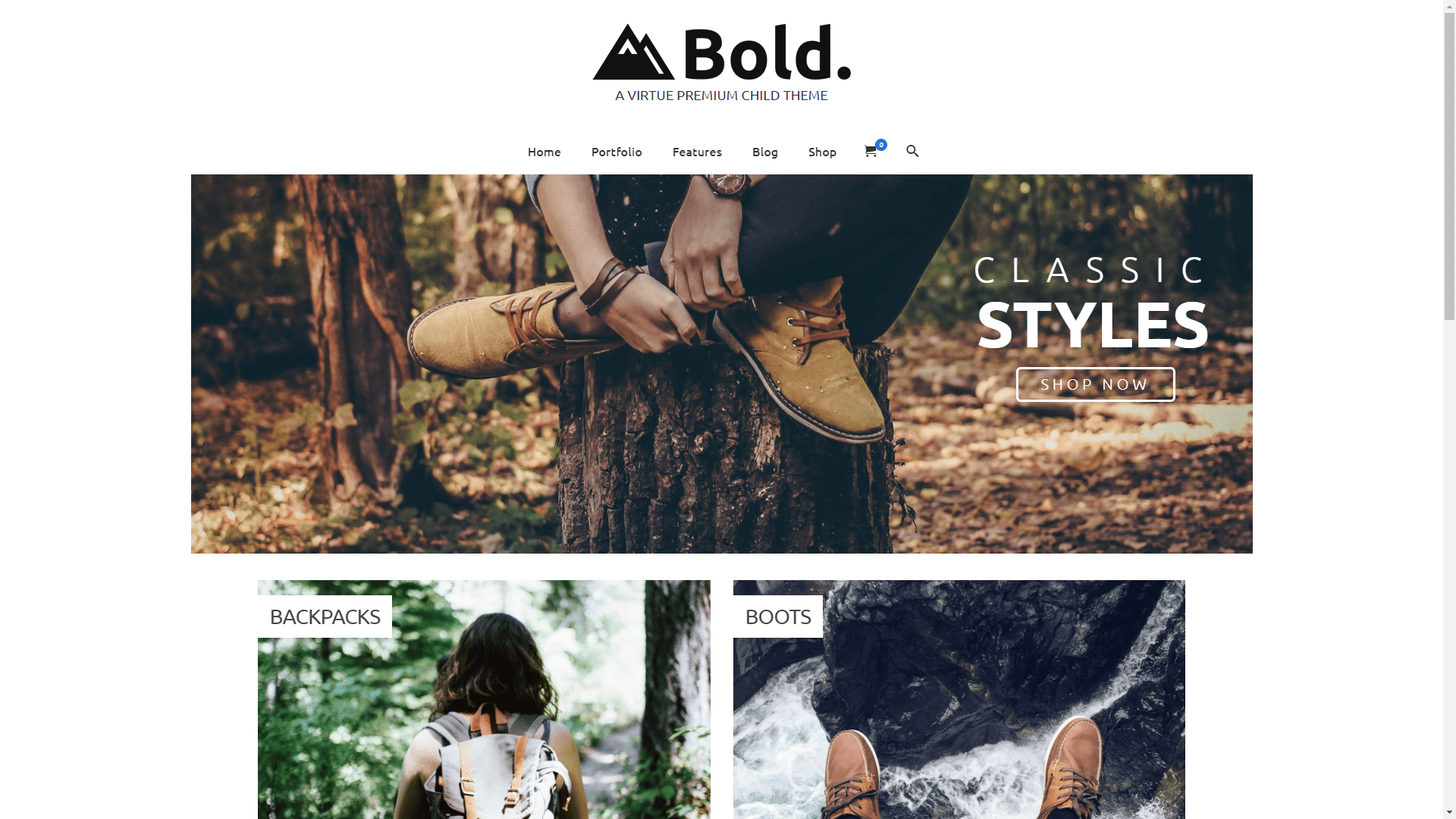 Web Design - Virtue Bold - Portland OR