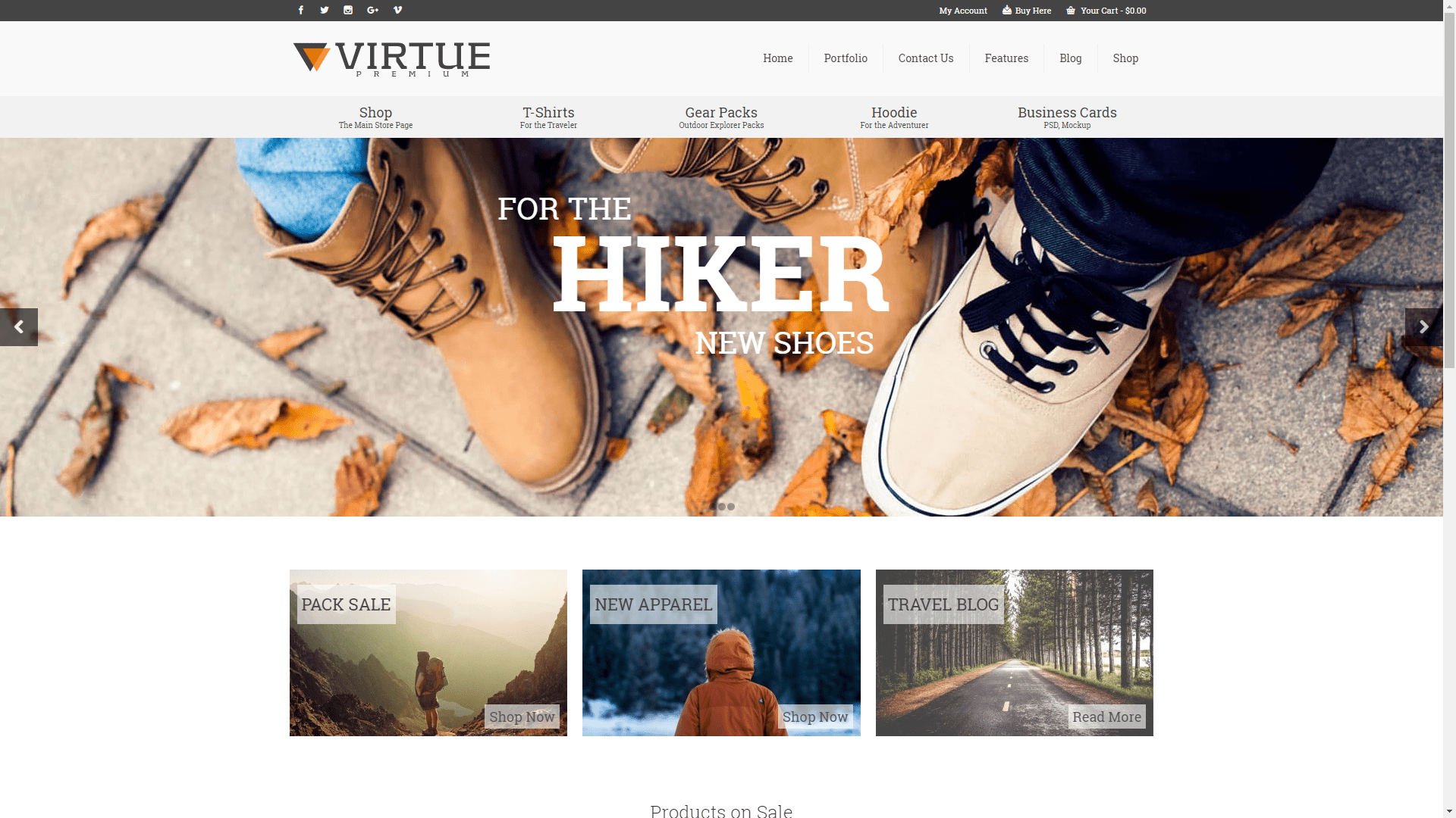 Web Design - Virtue Premium Shop - Spokane WA