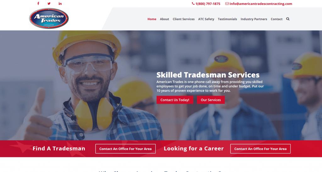 Home Improvement Web Design - American Trades Contracting -Dallas, TX
