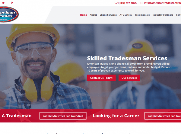 Web Design - American Trades Contracting - After - Dallas, TX