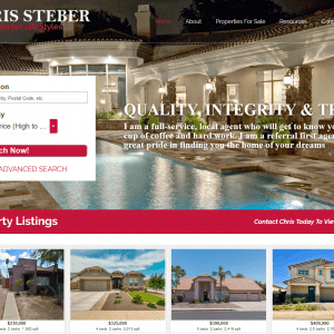 Web Design - Chris Steber Screenshot - Queen Creek AZ
