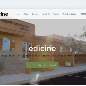 Web Design - Edicine - New Screenshot - Scottsdale AZ