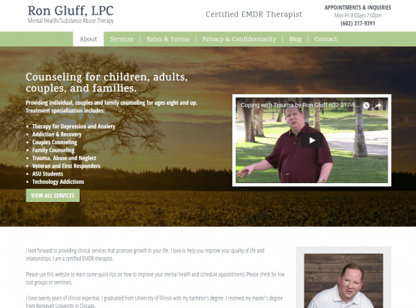 Web Design - rongluff after - Chandler AZ