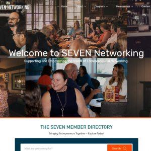 Networking Web Design Screenshot - SEVEN Networking - Chandler, AZ