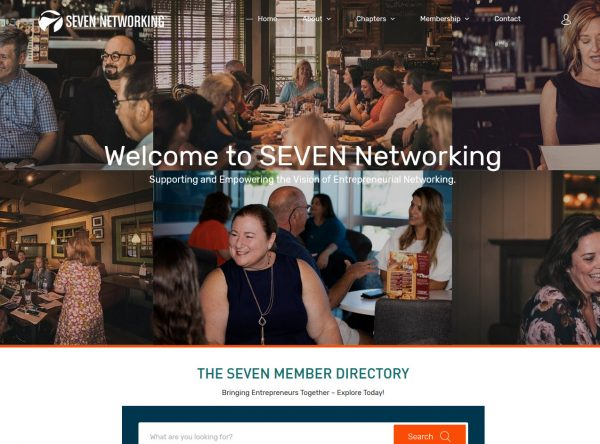 Networking Web Design Screenshot - SEVEN Networking - Chandler, AZ