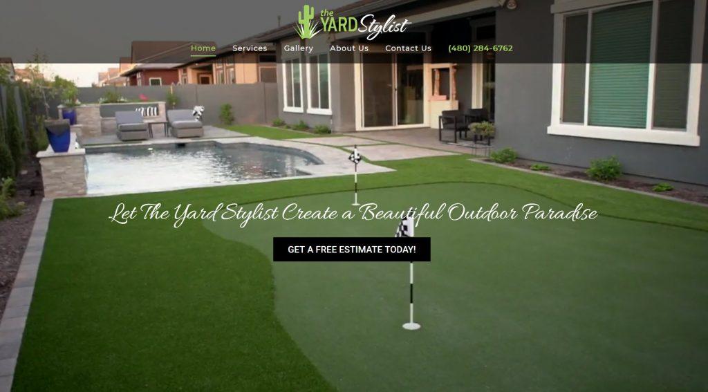 Contractor Website Design - Yard Stylist - Gilbert AZ