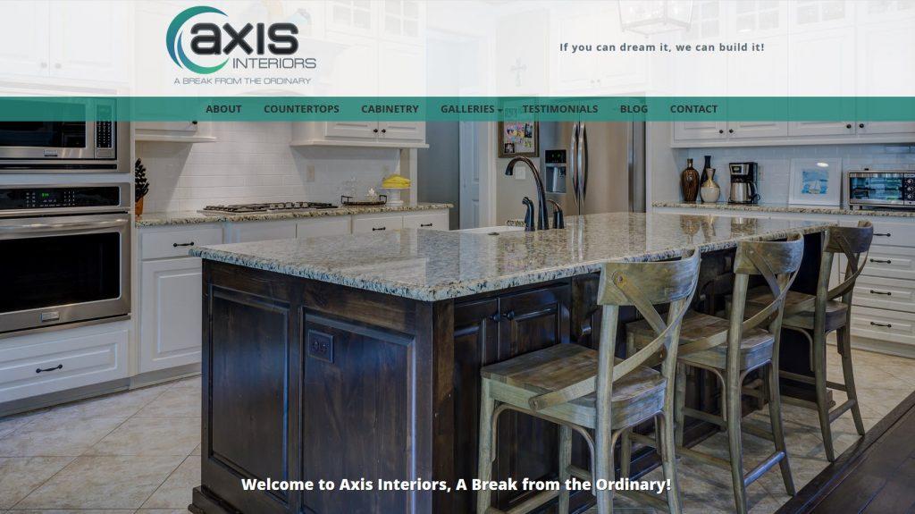 Contractor Website Design and SEO - Axis Interiors - Phoenix, AZ