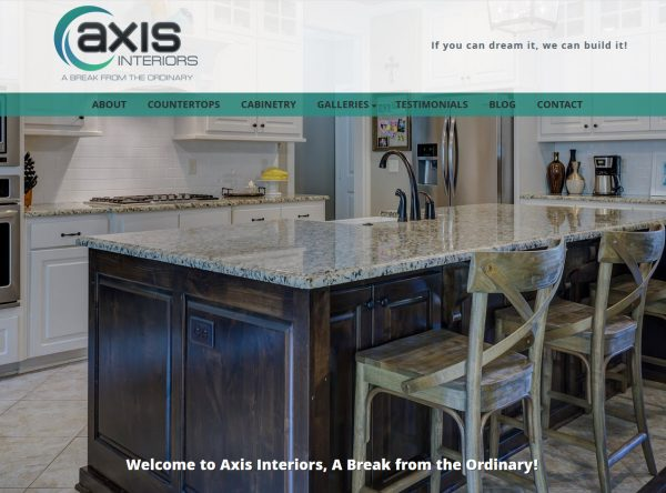 Contractor Website Design and SEO - Axis Interiors - Phoenix, AZ