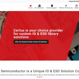 Engineering Website Design - Certus Semiconductor - Created By Web Designs Your Way - Mesa, AZ