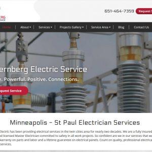 Contractor Website Design - Sternberg Electric - St Paul MN