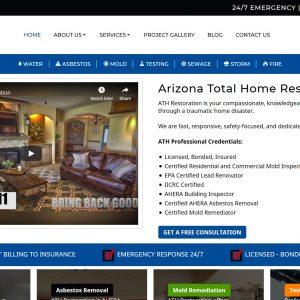 Home Restoration Web Design Screenshot - Arizona Total Home Restoration - Mesa, AZ - Created by Web Designs Your Way