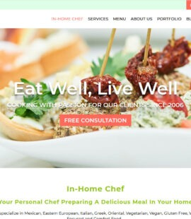 At Home Chef Web Design Screenshot - BZ Chef at Home - Chandler, AZ - Created by Web Designs Your Way
