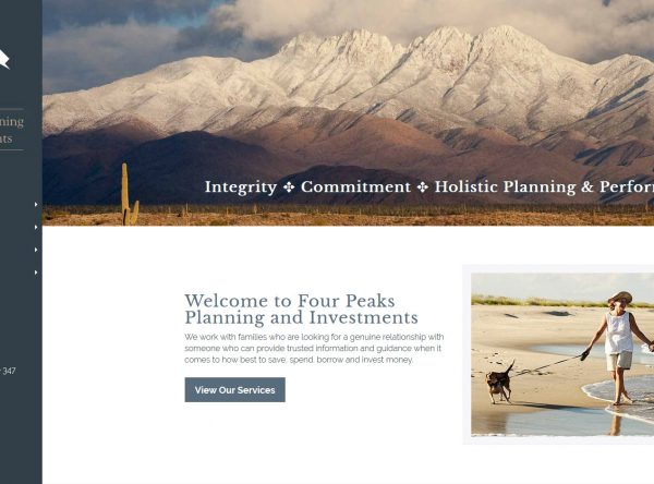 Financial Planning Web Design Screenshot - Four Peaks - Gilbert, AZ - Created by Web Designs Your Way