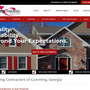 Contractor Web Design Screenshot - Kimberly Paining - Cumming, GA - Created by Web Designs Your Way