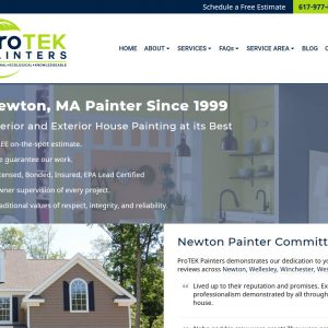 Contractor Web Design Screenshot - Protek Painters - Newton, MA - Created by Web Designs Your Way