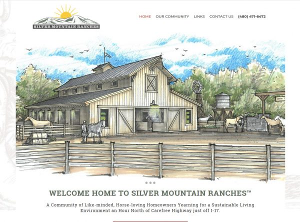 Ranch Web Design Screenshot - Silver Mountain Ranches - Yavapai County, AZ - Created by Web Designs Your Way