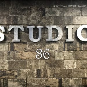 Salon and Spa Web Design Screenshot - Studio 36 - Created by Web Designs Your Way - Pocahontas, IL