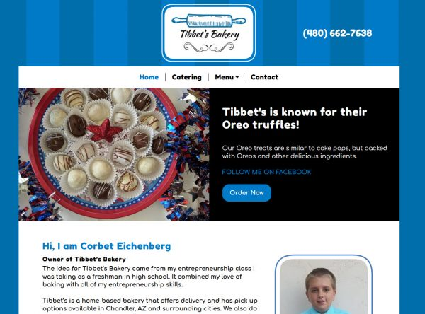 Small Business - Bakery Screenshot - Chandler, AZ - Created by Web Designs Your Way