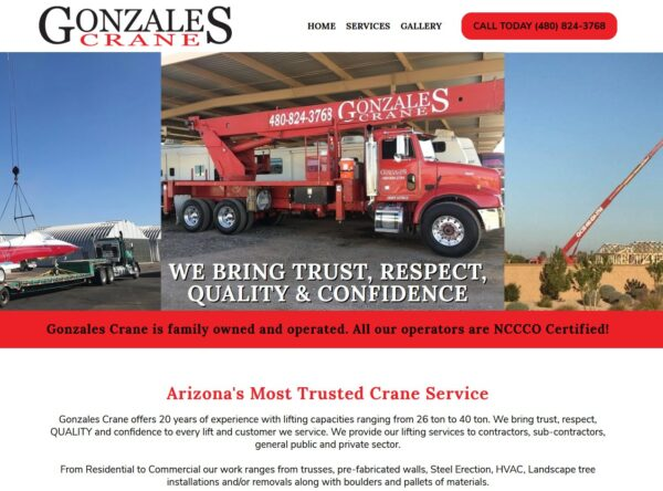 Gonzales Crane - Queen Creek, Arizona