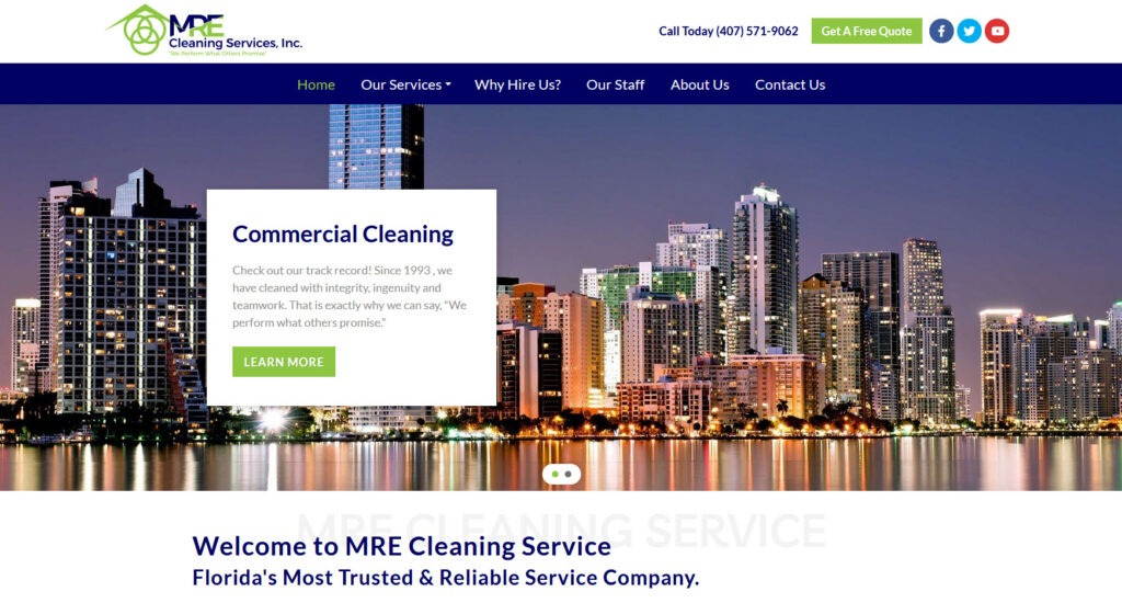 MRE Cleaning Service - Florida's most trusted and reliable cleaning service - Orlando, Florida